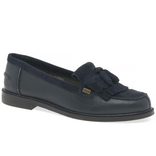 Barbour Olivia Womens Tassel Loafers Navy Suede