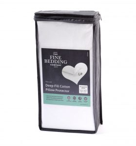 Deep fill cotton pillow protector