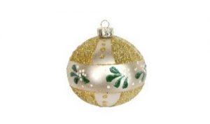 Gold Glass Ball Mistletoe