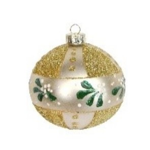 Gold Glass Ball Mistletoe