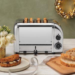 Dualit Classic Vario AWS Polished 4 Slot Toaster 40378