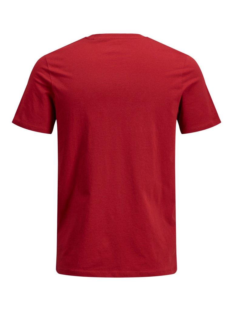 JJECORP LOGO TEE SS O-NECK  NOOS DK.RED/2XL