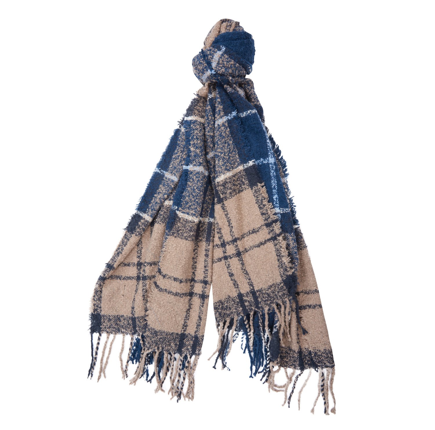 Barbour Boucle Scarf BLUE/ONE SIZE