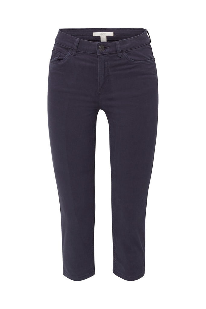 Soft Capri trousers with Lycra® xtra life™ Navy