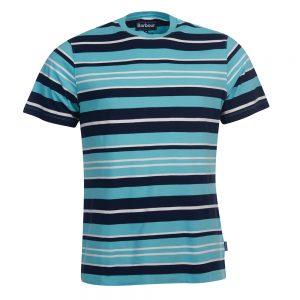Barbour Port Stripe Te BLUE/XL