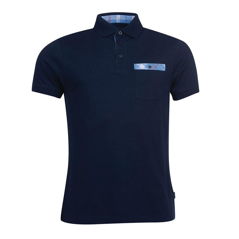 Barbour Tartn Pkt Polo  NAVY/LARGE