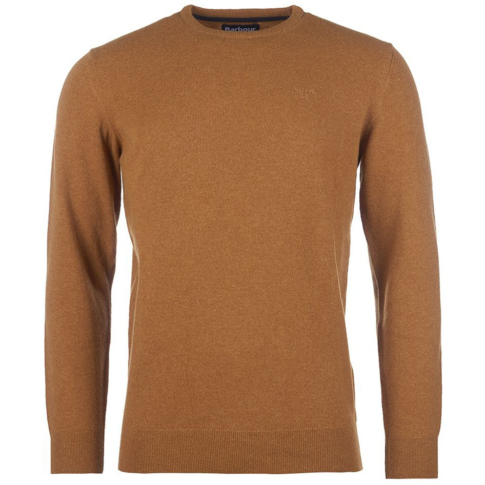 BARBOUR ESSENTIAL LAMBSWOOL CREW NECK SWEATER
