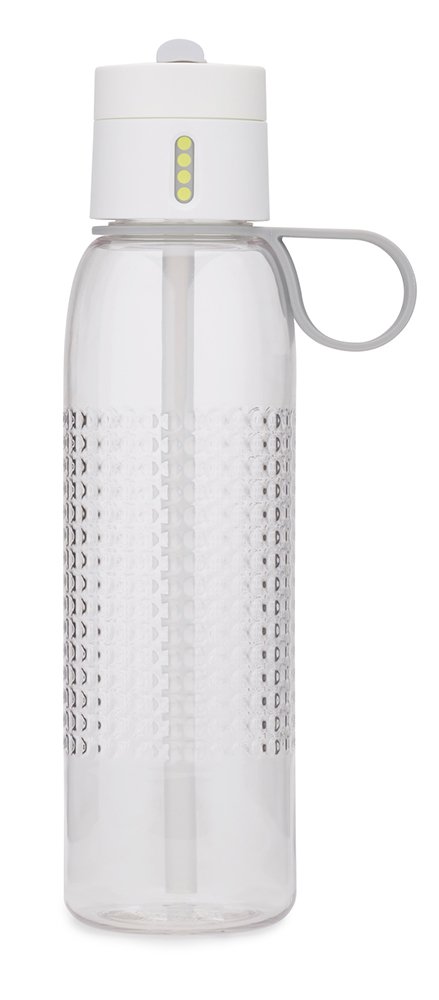 Dot hydration active tracking water bottle white