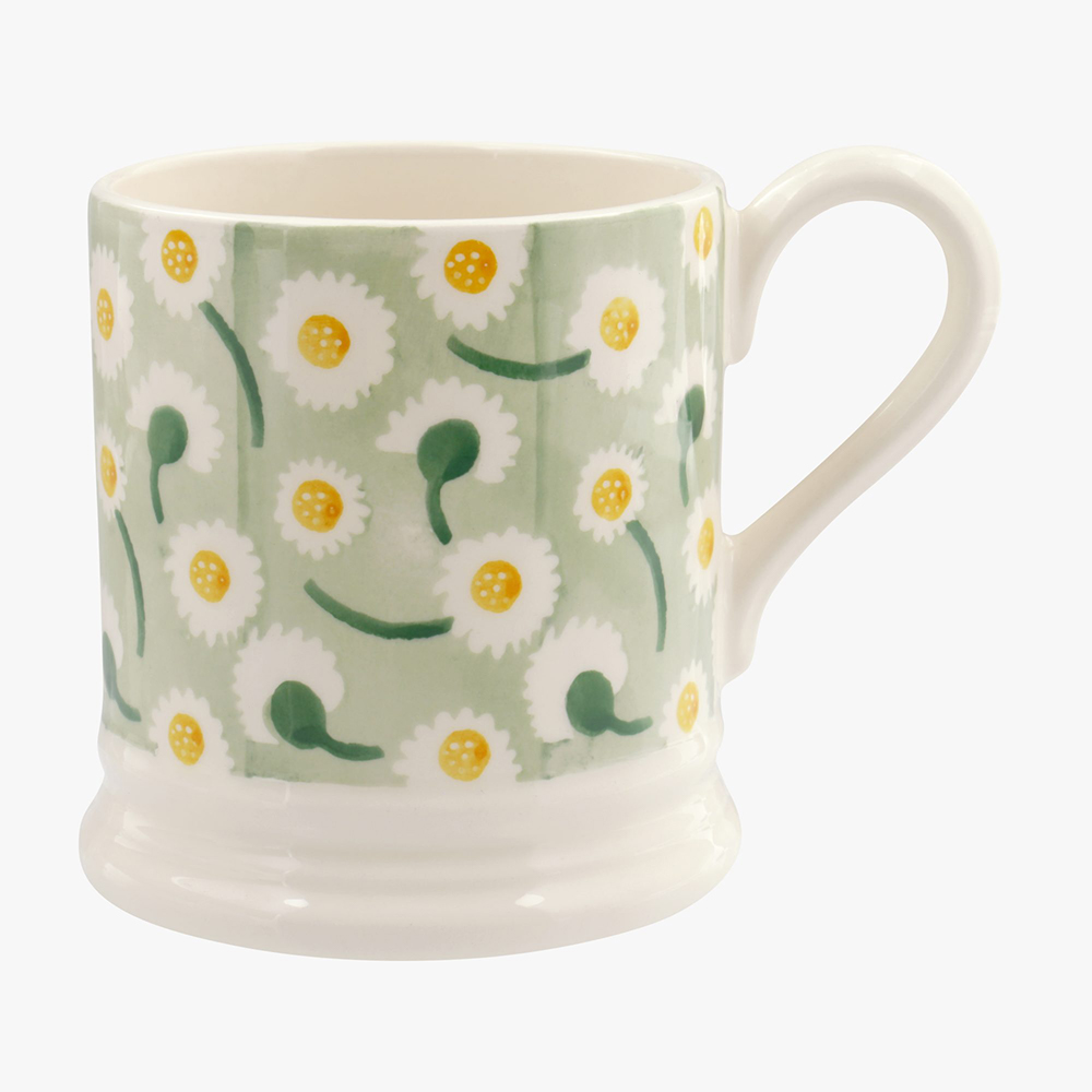Daisy Light Green 1/2 Pint Mug