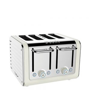 Dualit Architect 4 Slot Canvas Body With Stainless Steel Panel Toaster
