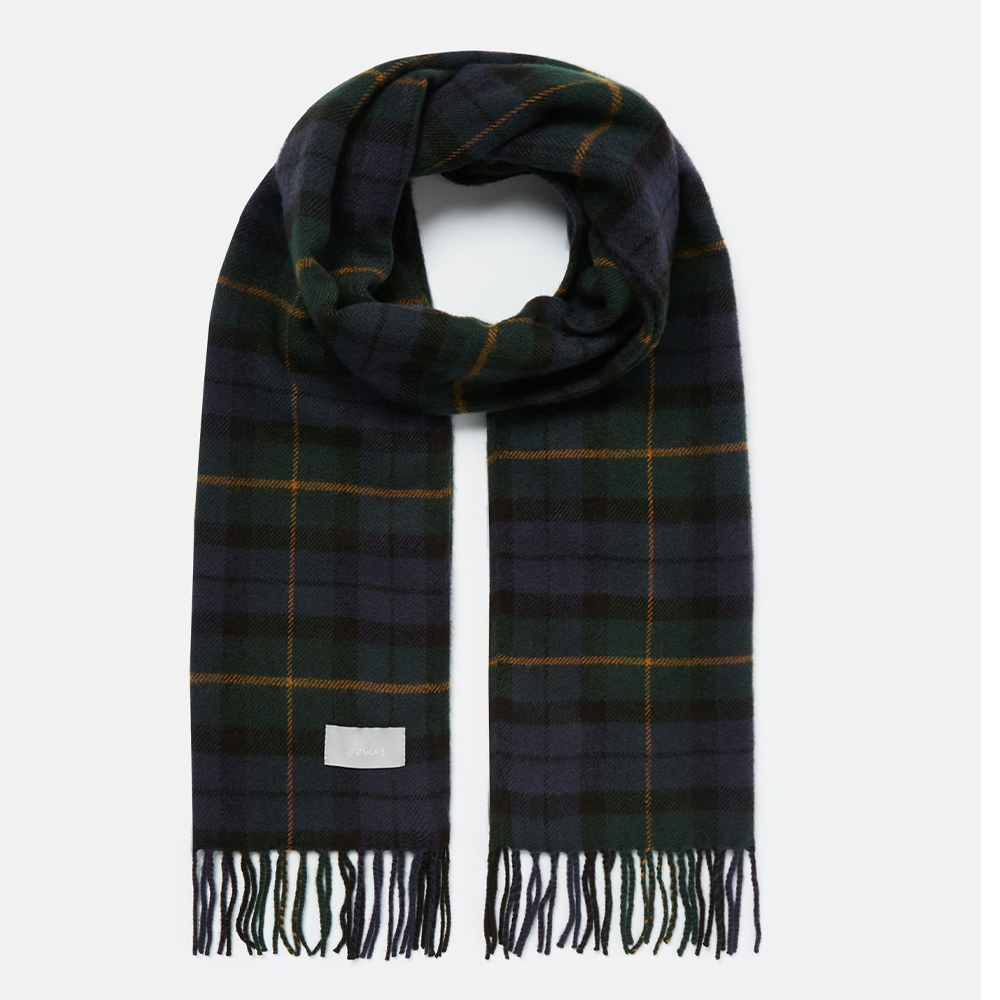 Bracken Check Woven Scurf Navy