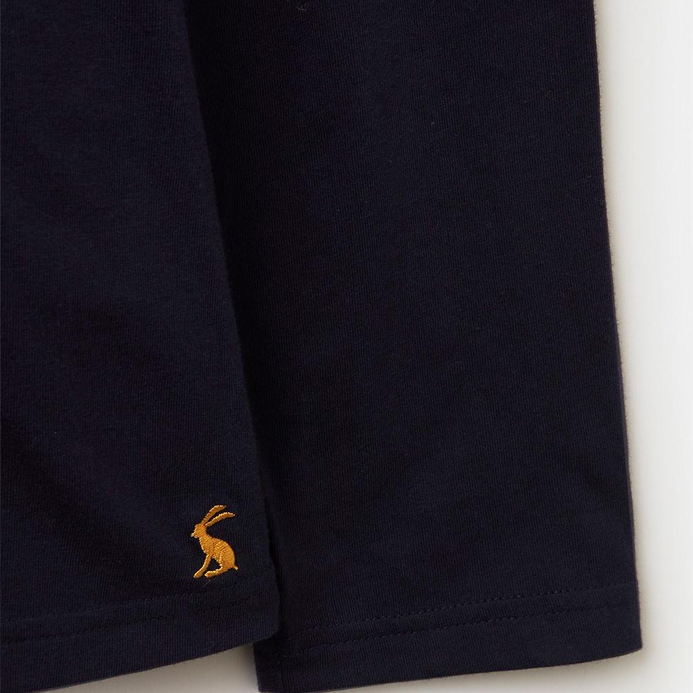 Selma Solid Long Sleeve Jersey Top Navy