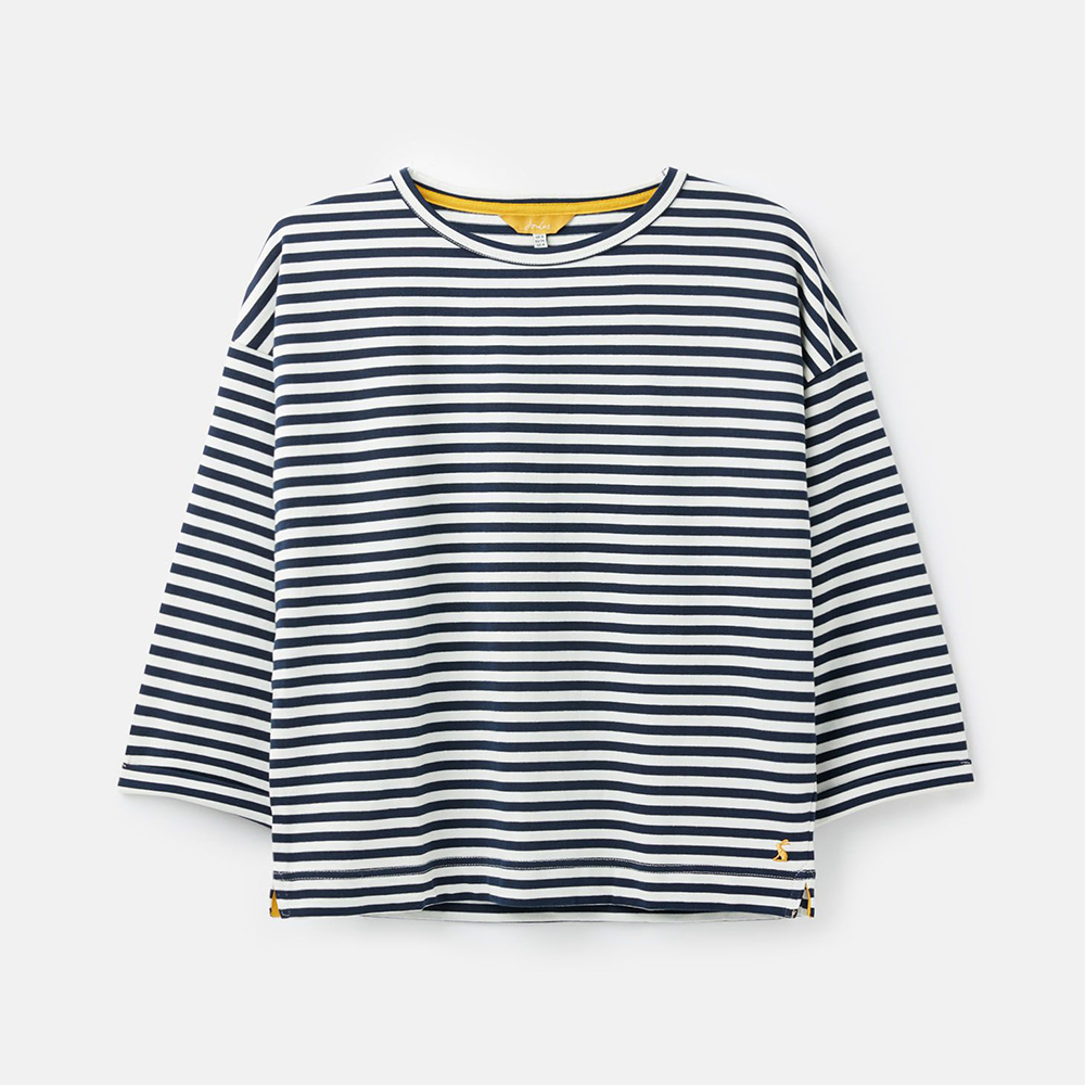 Livia Drop Shoulder Jersey Top Navy