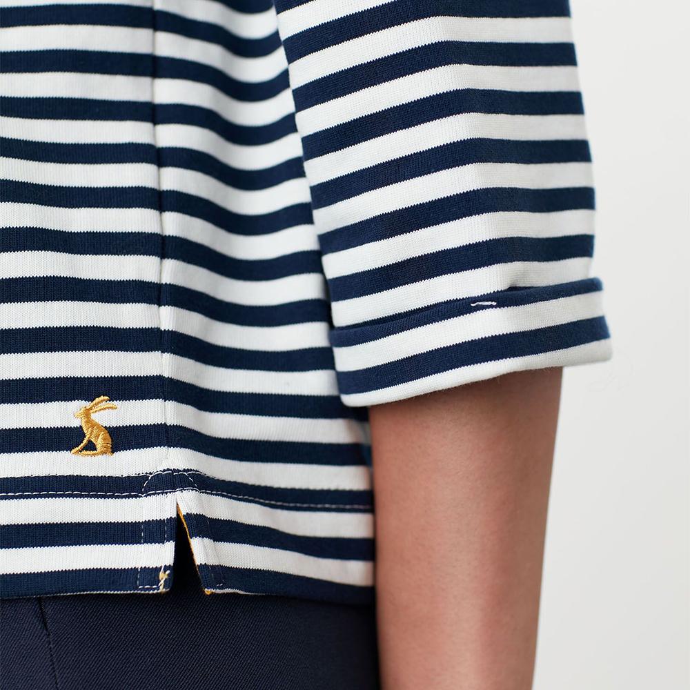 Livia Drop Shoulder Jersey Top Navy