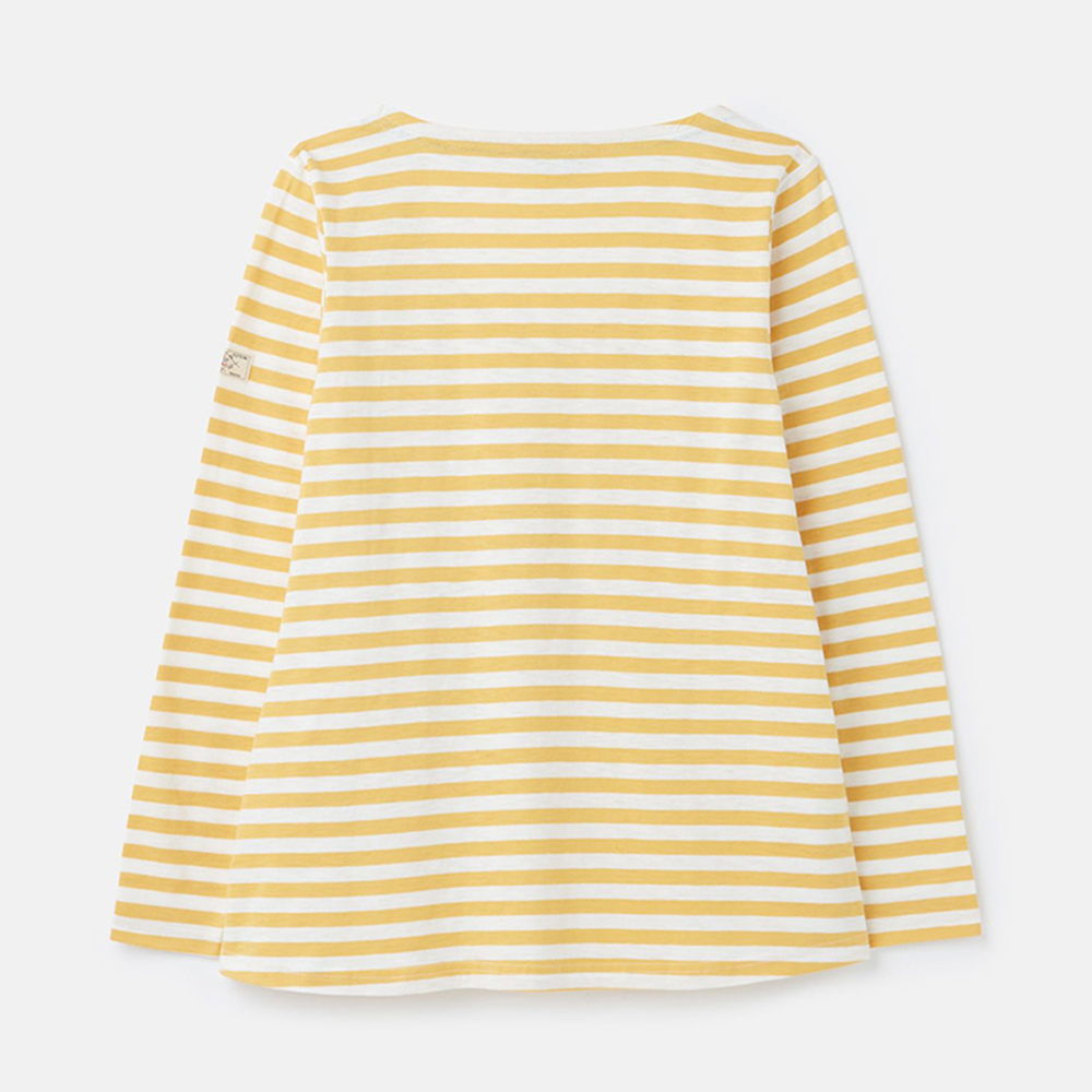 Harbour Lt Swing Lightweight V Neck Jersey Top Yellow