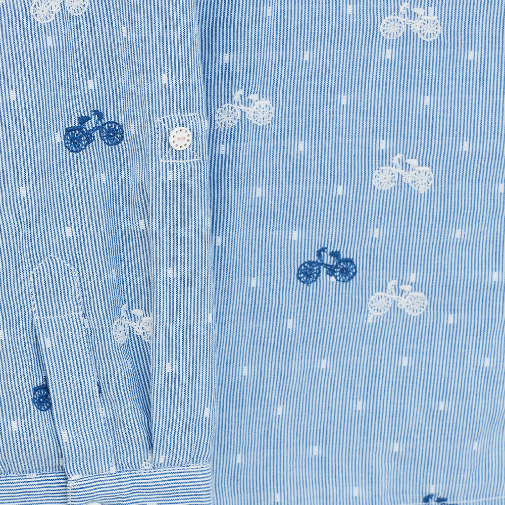 Cecily Organic Shirt Blue