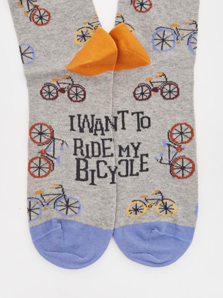 I Want To Ride My Bicylce Sock Grey