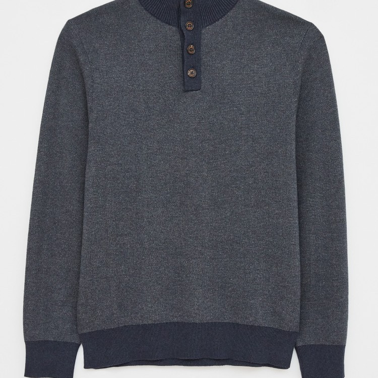 Heworth Organic Cotton Funnel Navy