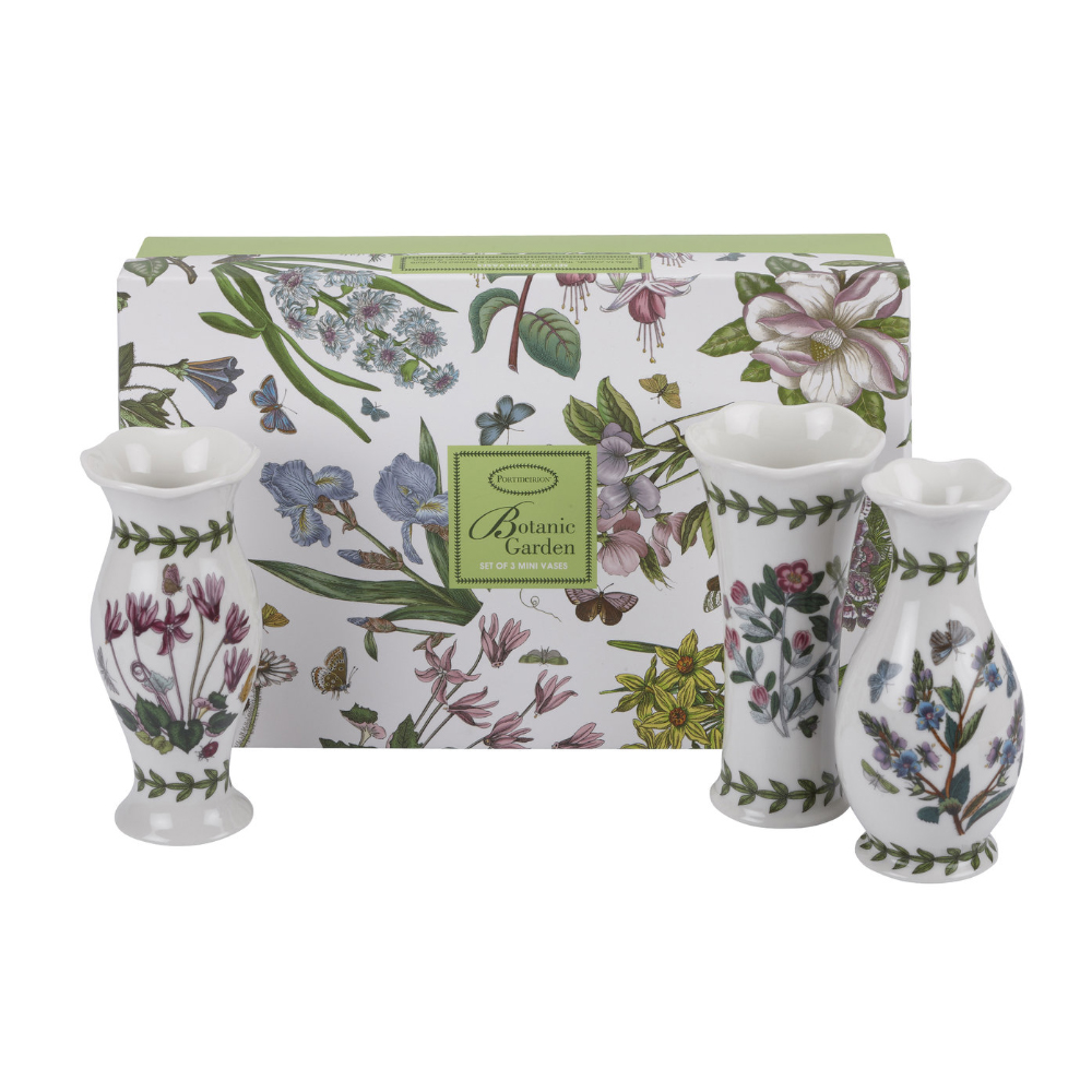 Portmeirion Botanic Garden Mini Vases Set of 3