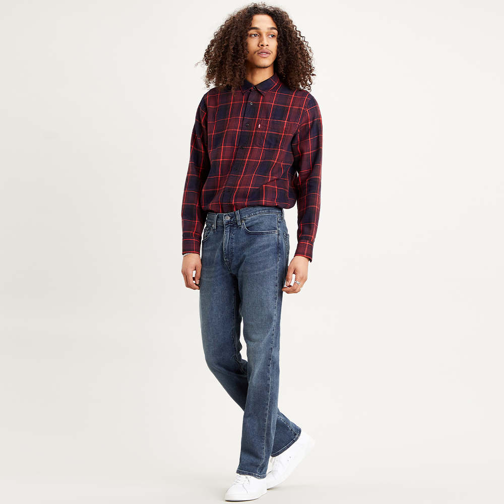 Levi's® Sunset 1 Pkt Shirt - Azriel/ Sassafras  Burgundy