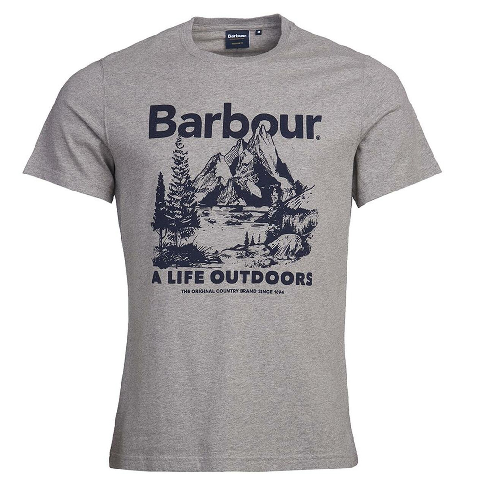 Barbour Outdoor Tee  Grey
