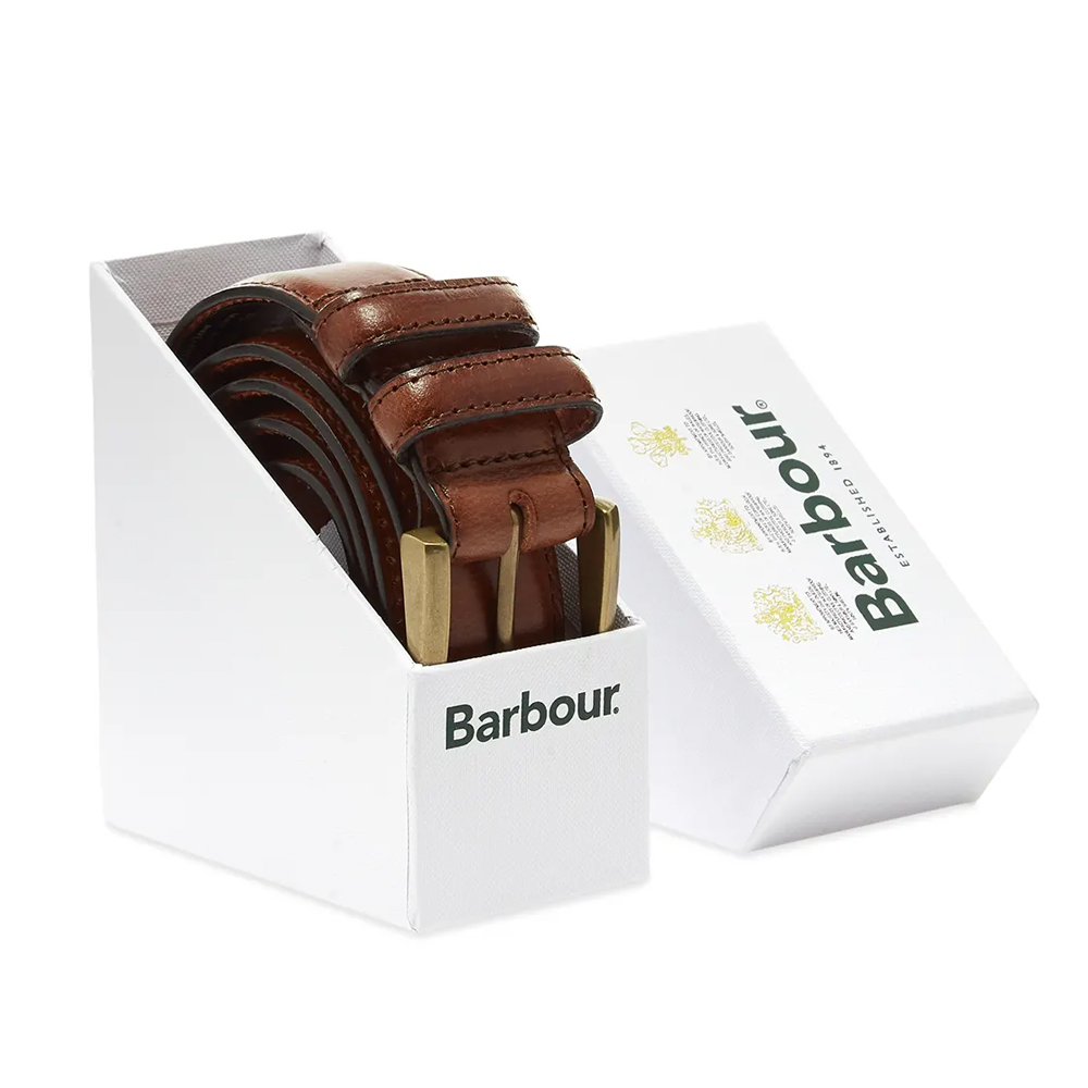 Barbour Belt Gift Box Brown