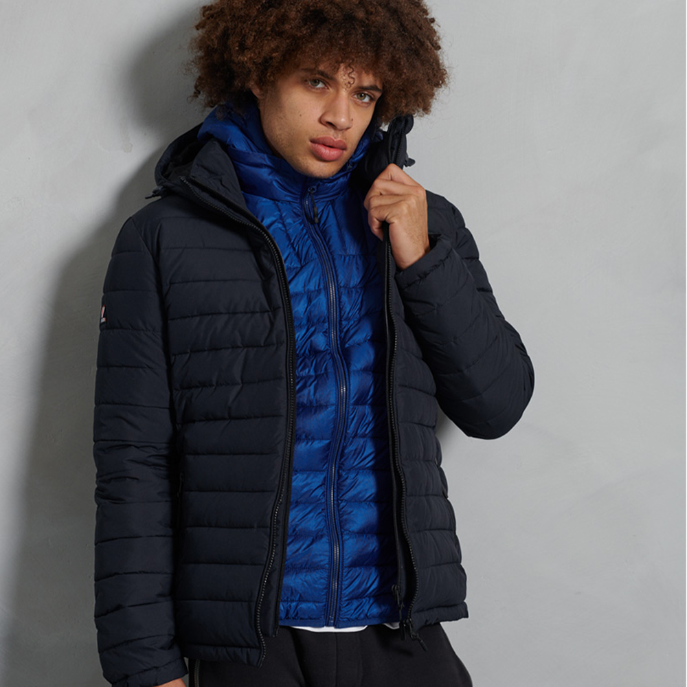 Hooded Fuji Jacket Navy