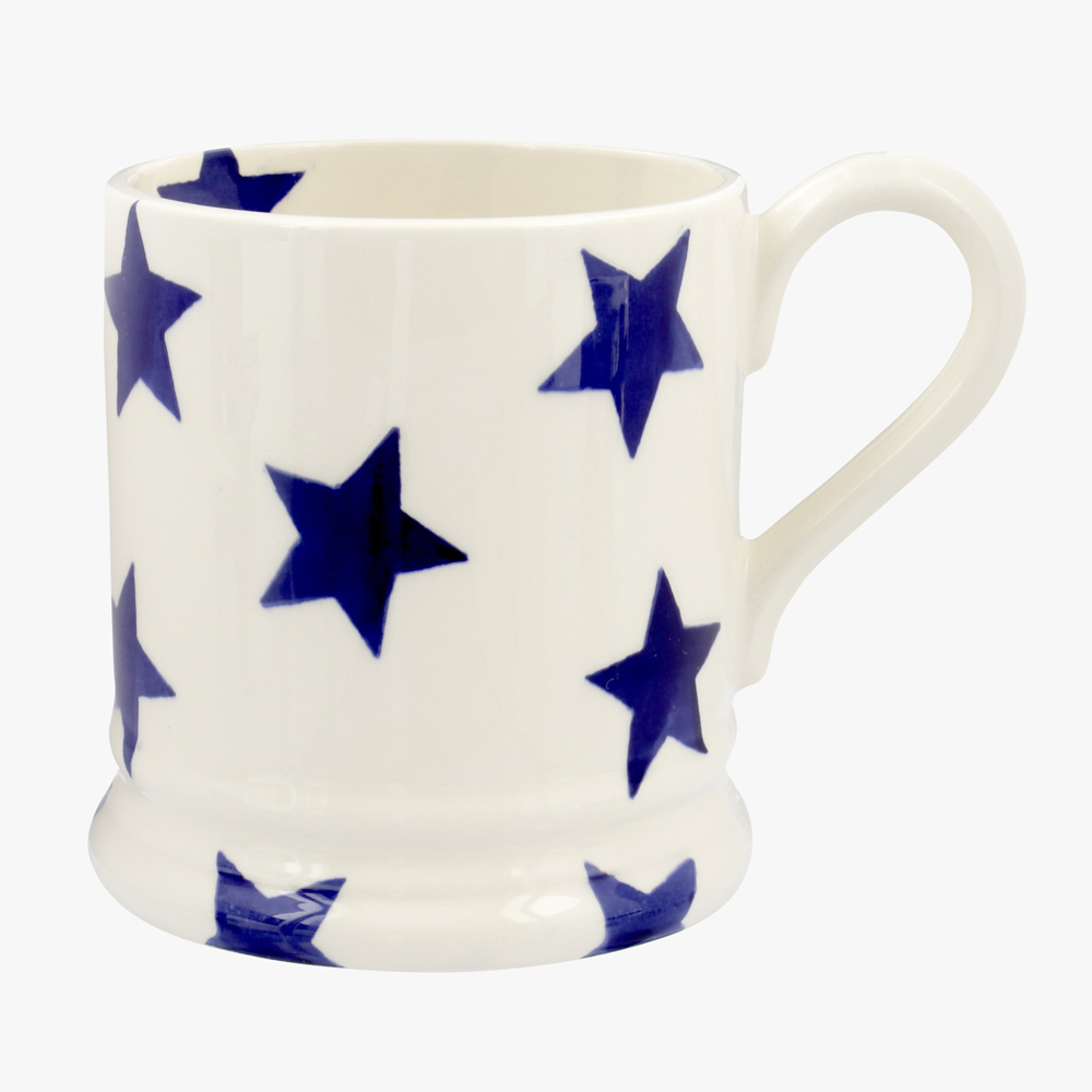 Emma Bridgewater Blue Star 1/2 Pint Mug