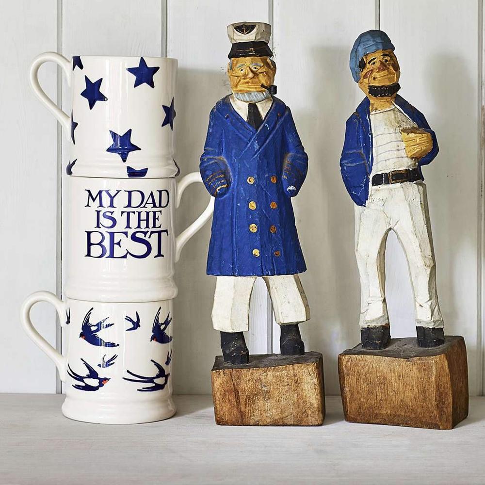 Emma Bridgewater Blue Star 1/2 Pint Mug