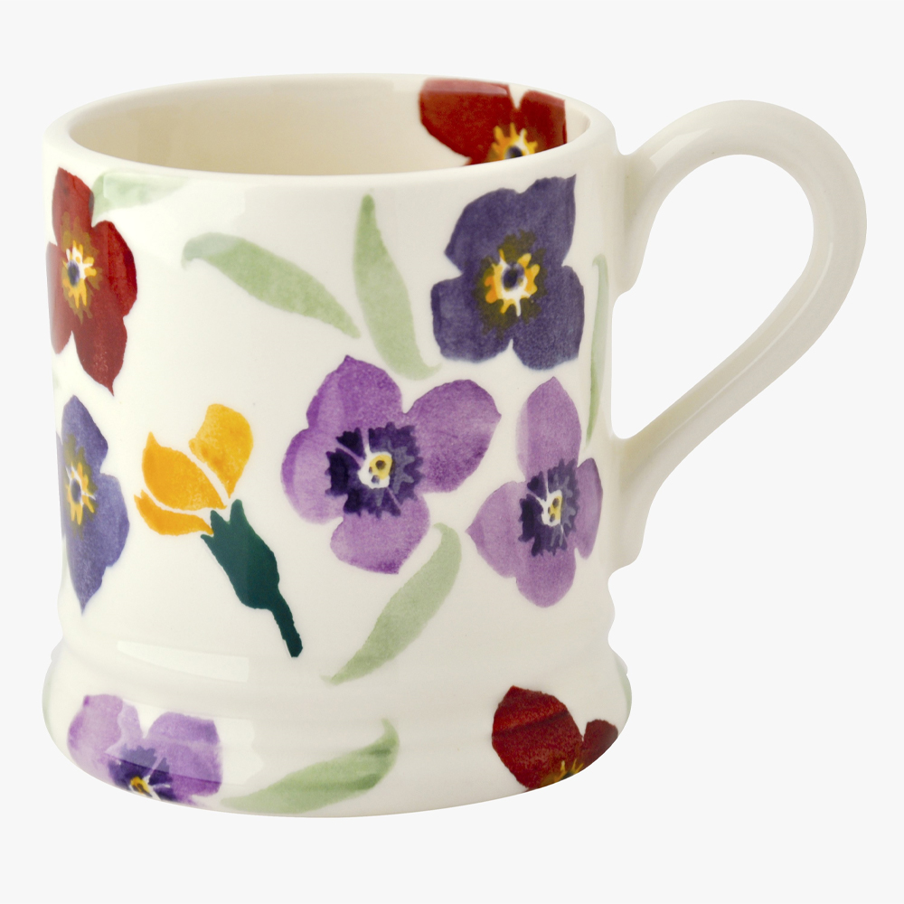 Emma Bridgewater Purple Wallflower 1/2 Pint Mug
