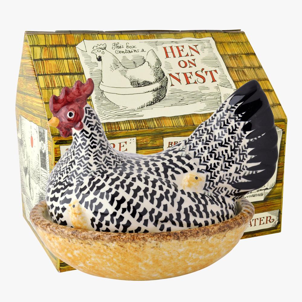 Emma Bridgewater Black Toast Silver Large Hen on Nest Boxed