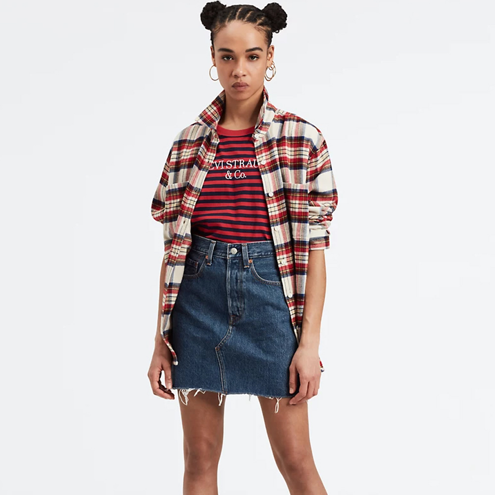 Levi's® Deconstructed Iconic Boyfriend Skirt Meet In The Middle