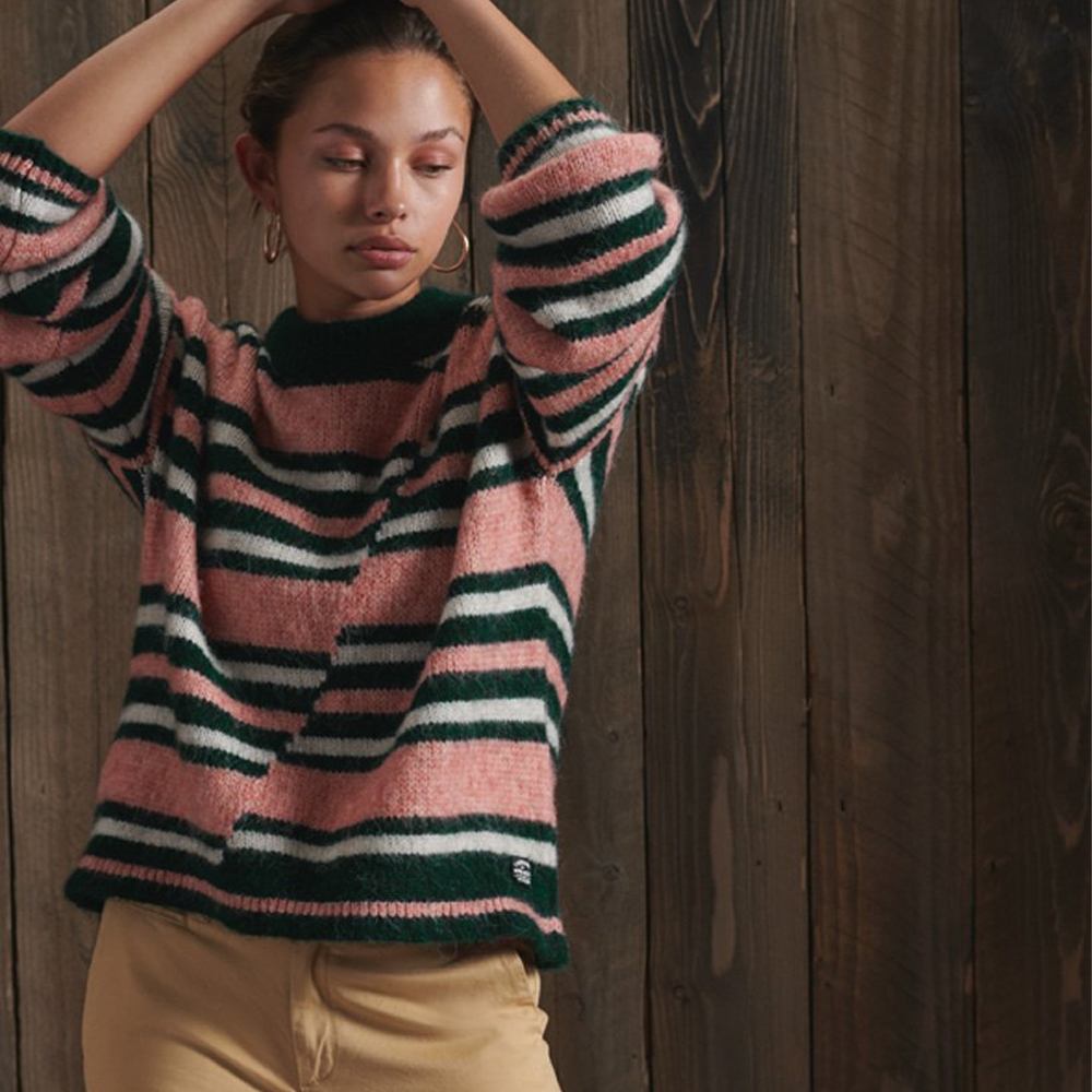Superdry Chunky Mismatched Stripe Crew