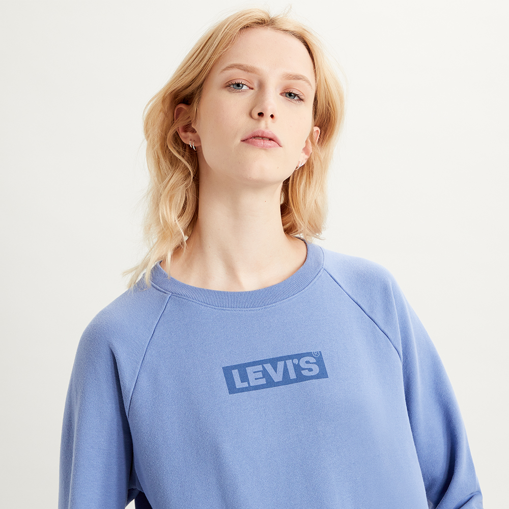 Relaxed Graphic  Crew Colony Blue