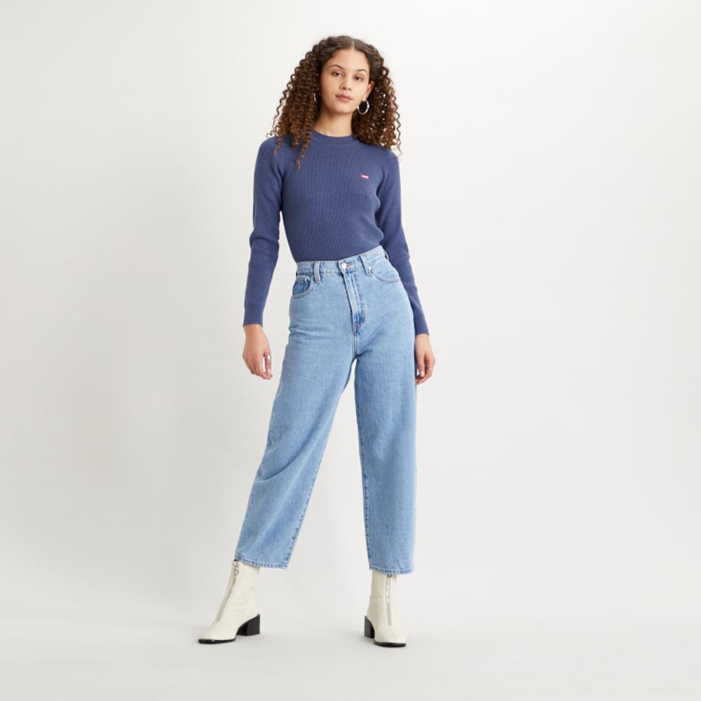 Crew Rib Sweater Blue Indigo