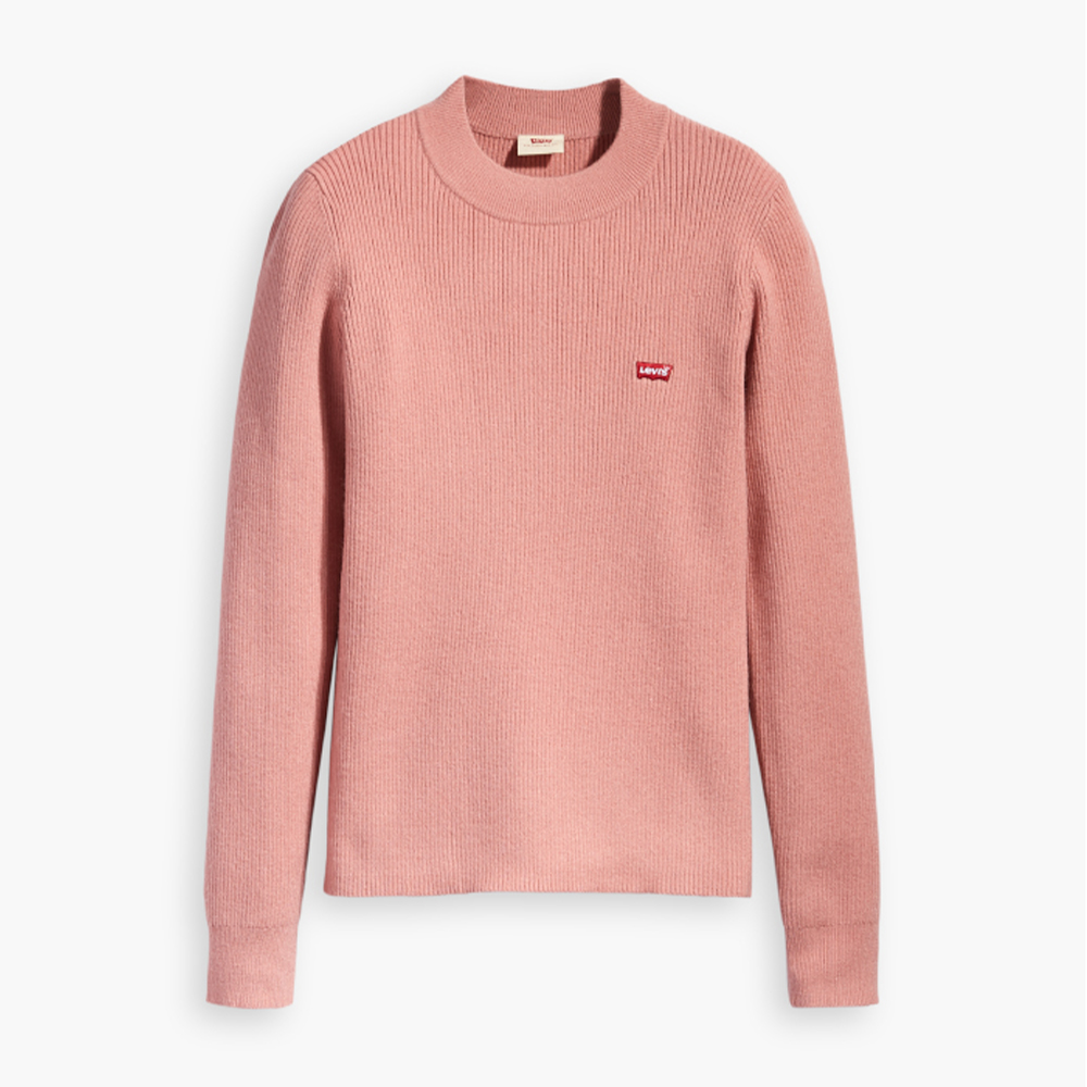 Crew Rib Sweater Blush Pink