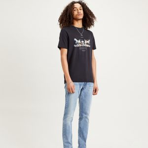 Levi's Mens 2-Horse Graphic T-Shirt Jet Black