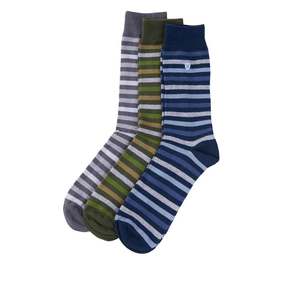 Barbour Stripe Socks – 3 Pack