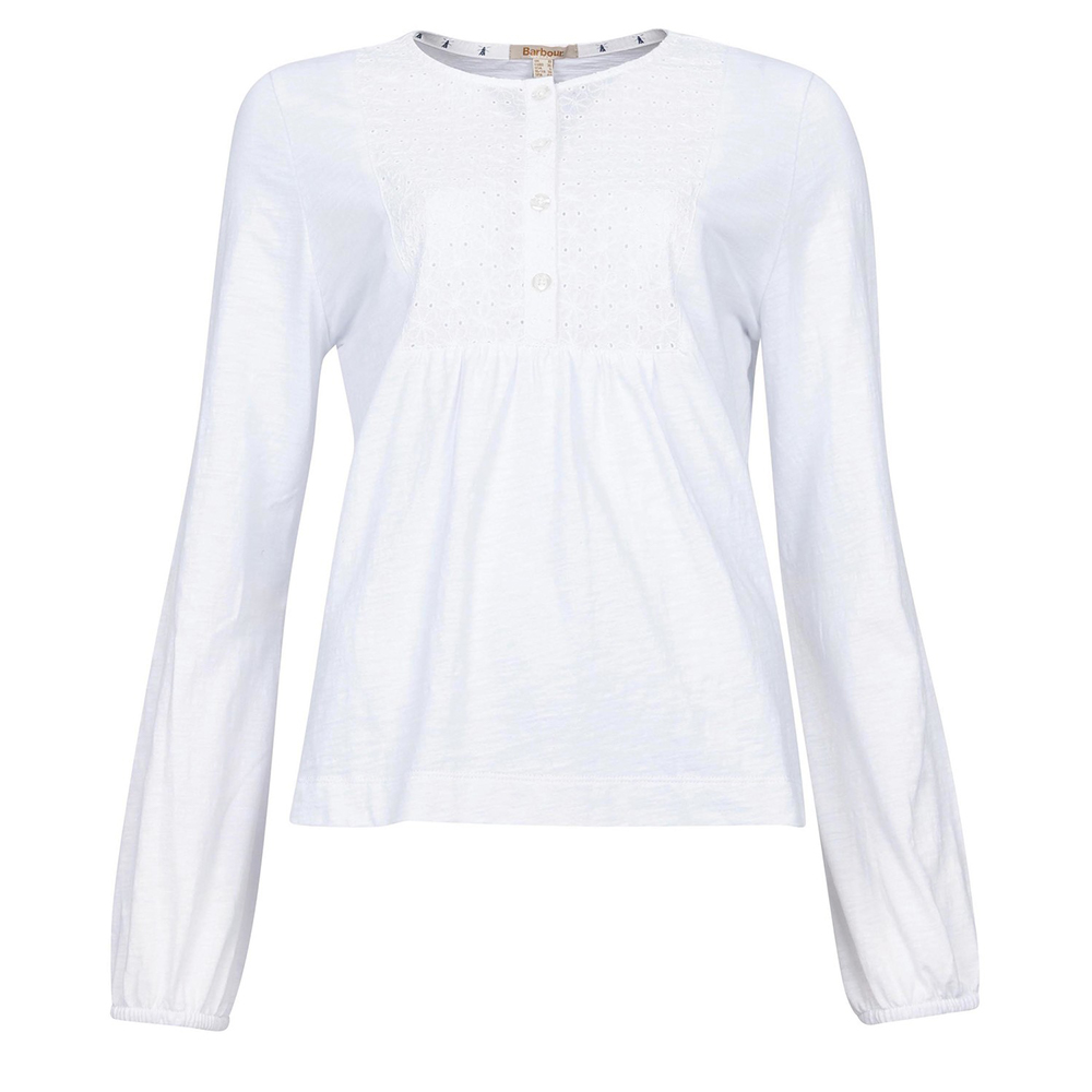 Barbour Penfor Top White   White/8