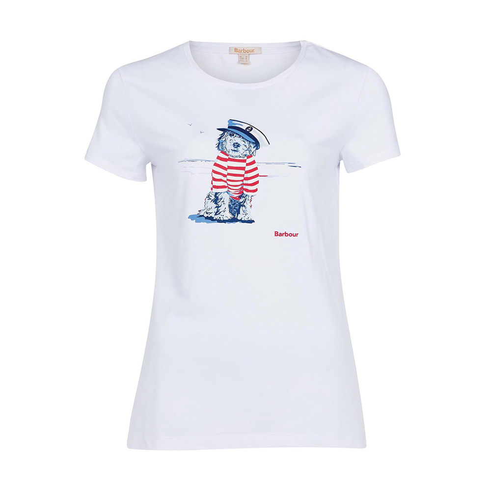 Barbour Southport Tee  White   White/8