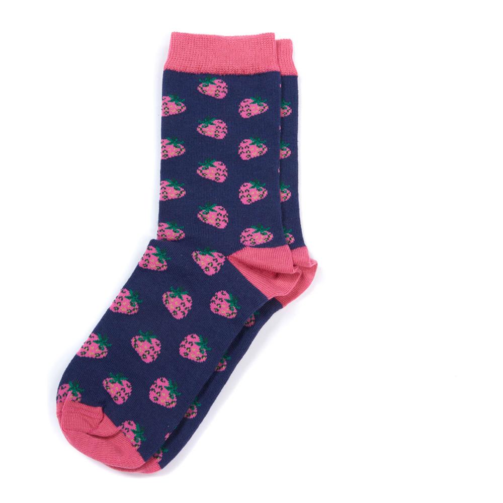 Barbour Strawber Socks Blue/Pi Blue/Pink/medium
