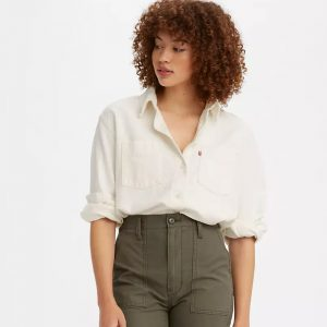 LEVI'S® Zoey Pleat Utility Shirt