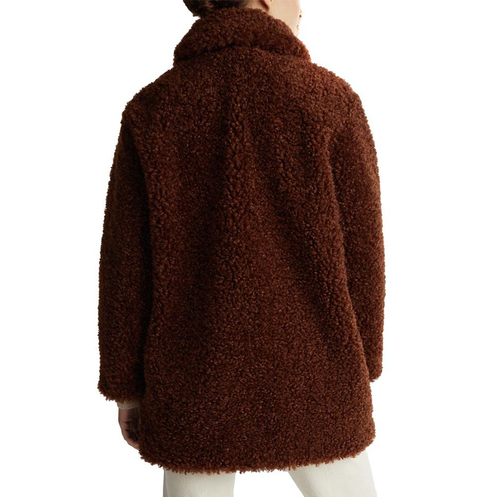 Esprit Faux Fur Fabric Straight Fit Coat