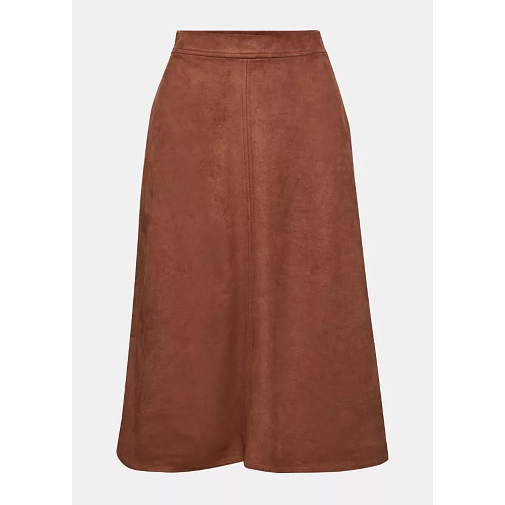 Esprit Faux Suede Midi Skirt