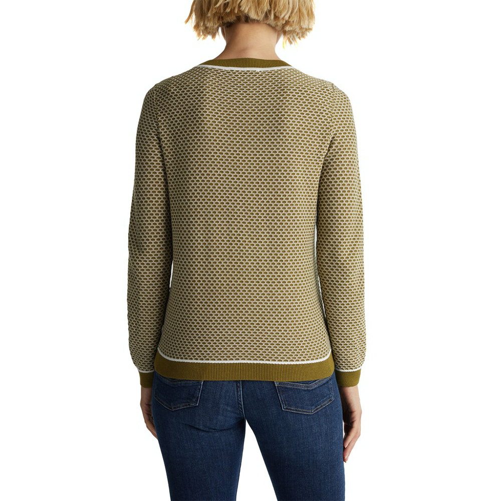 Esprit Jacquard Jumper In A Two-Tone Look