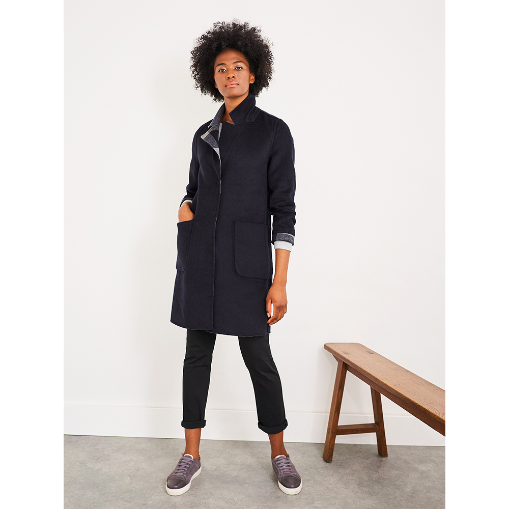 White Stuff Bista Reversible Wool Coat