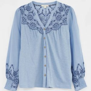 White Stuff Broderie Jersey Shirt
