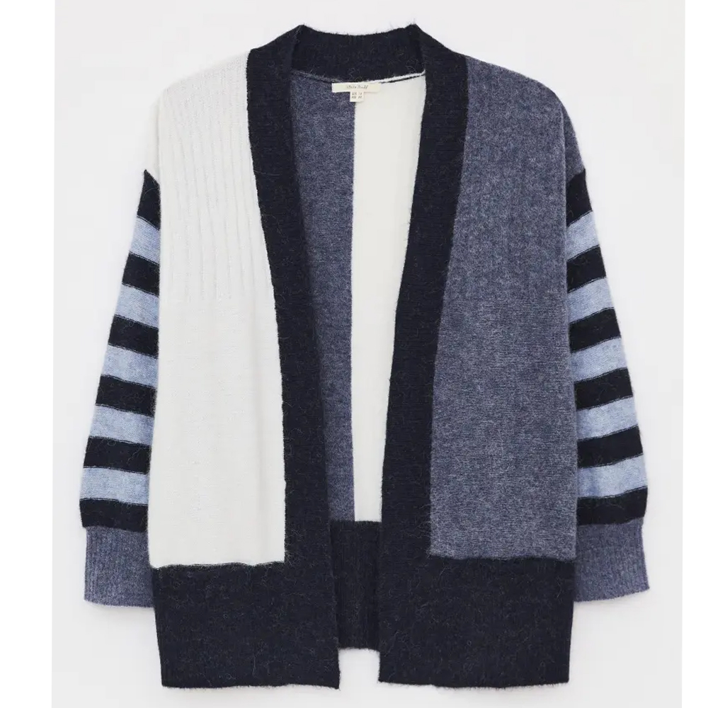 White Stuff Mixy Stripe Long Line Cardi