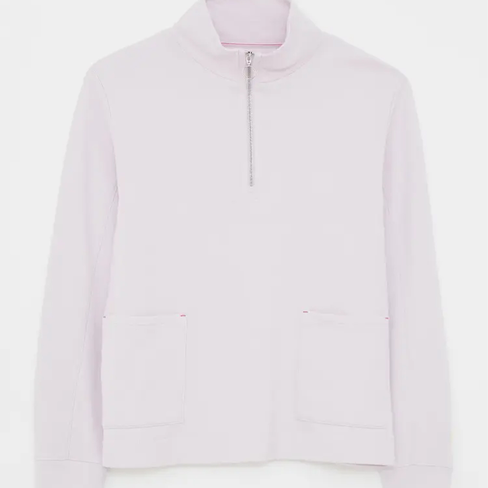White Stuff Half Zip Sweat