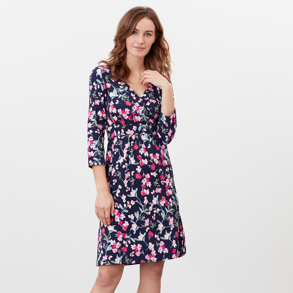Joules Jude Print Wrap Dress